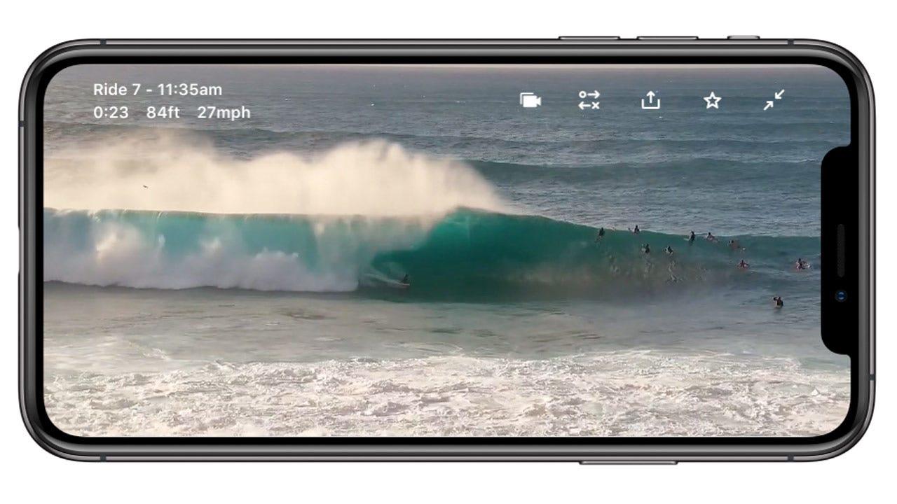 Mason on the Surfline App