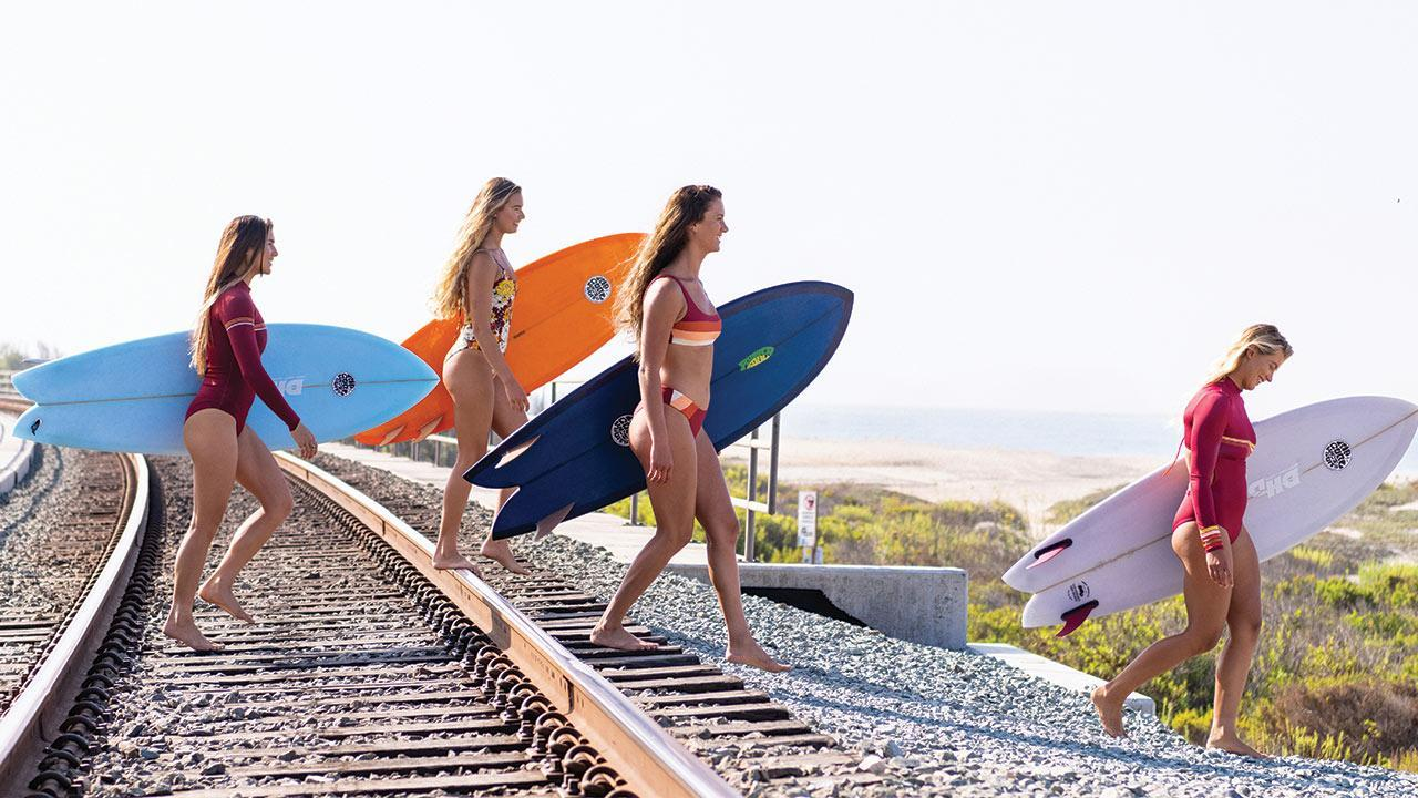 The Rip Curl Team Girls on the Search in Surf Revival Collection