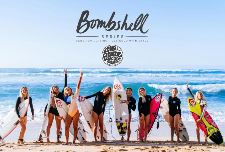 The Rip Curl Womens Team in the Bombshell Series Collection