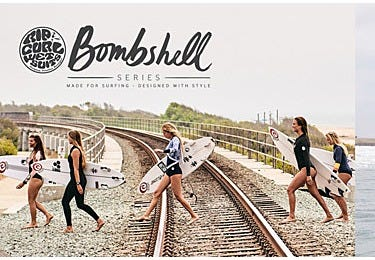 Made for Surfing, Designed with Style. Rip Curl BombShell Series
