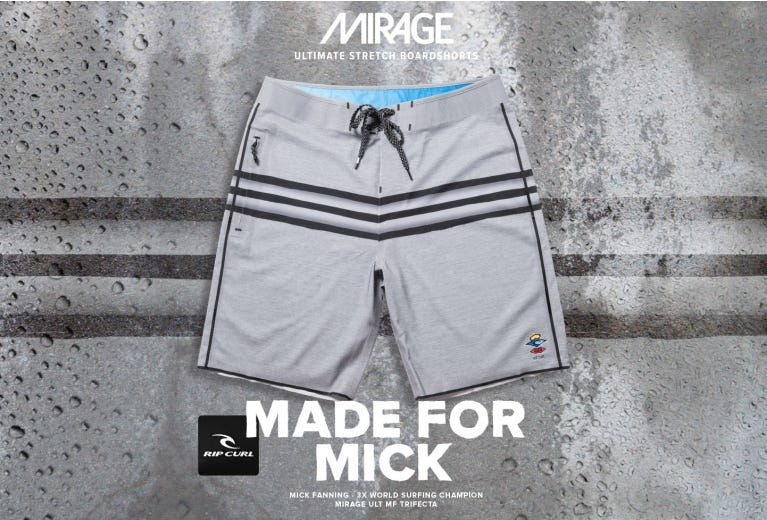 Made For Mick - Mirage Ult Trifecta MF Boardshorts