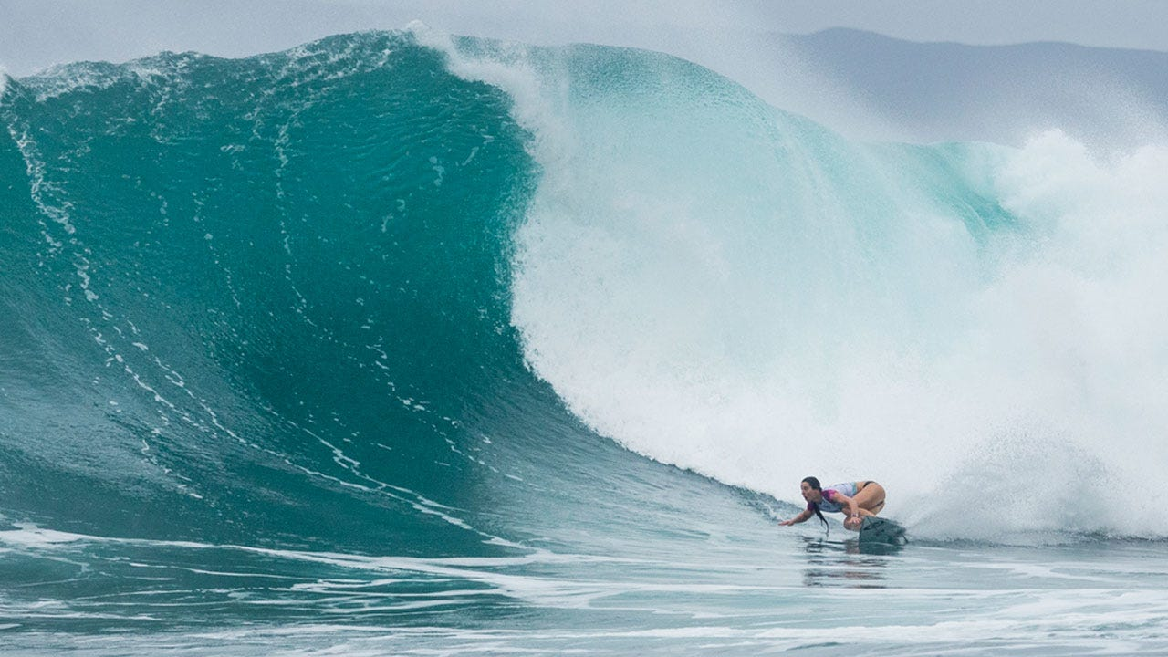 Tyler Wright in action in Maui