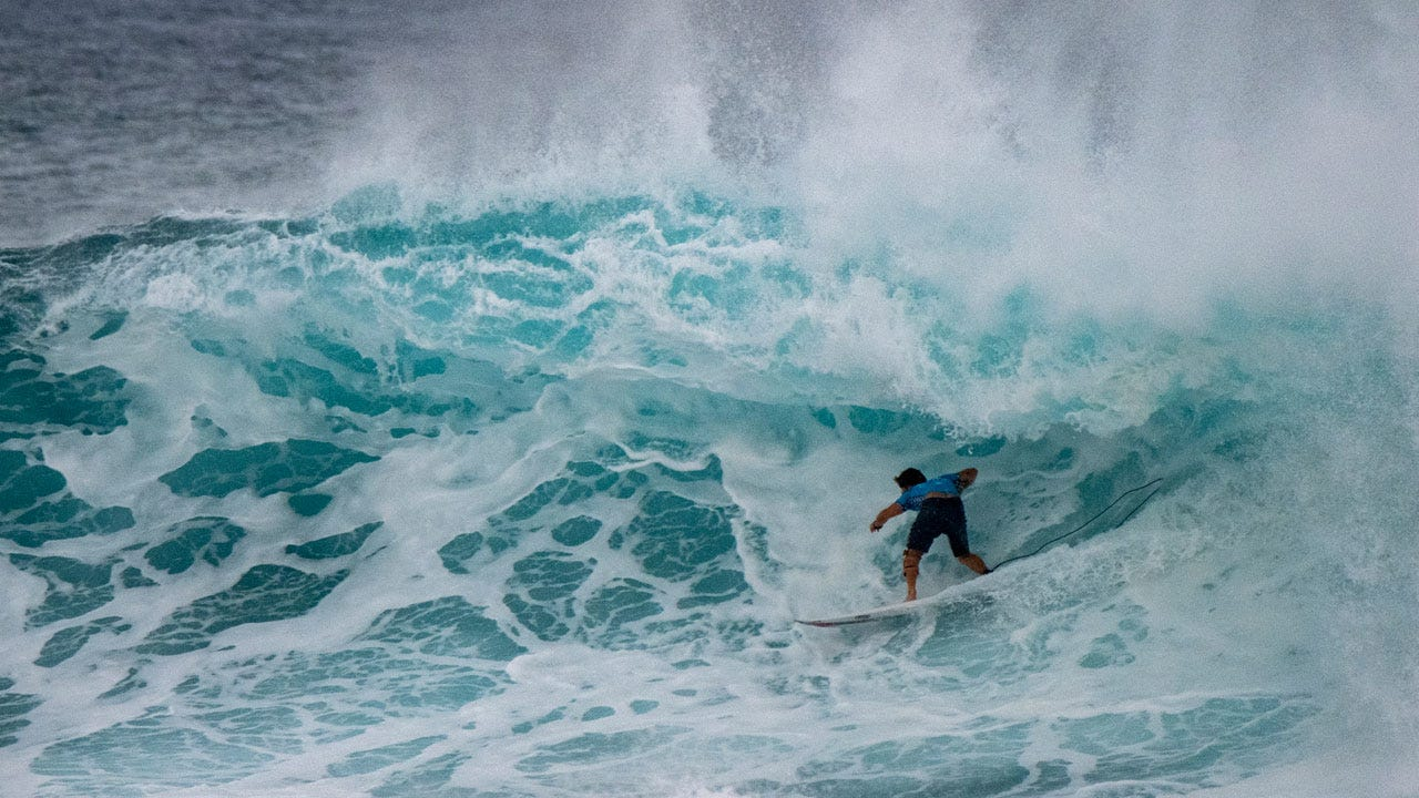Morgan Surfing Sunset