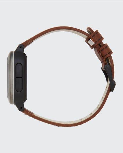 Next Tide Surf Leather Watch in Gunmetal Grey