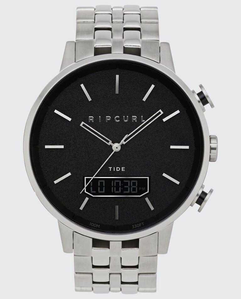 Detroit Tide Digital Stainless Steel Watch in Black