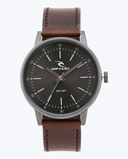 Drake Leather Gunmetal Watch in Gunmetal
