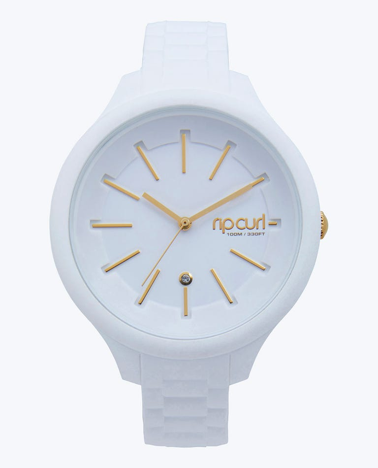 Alana Horizon Silicone Surf Watch in White