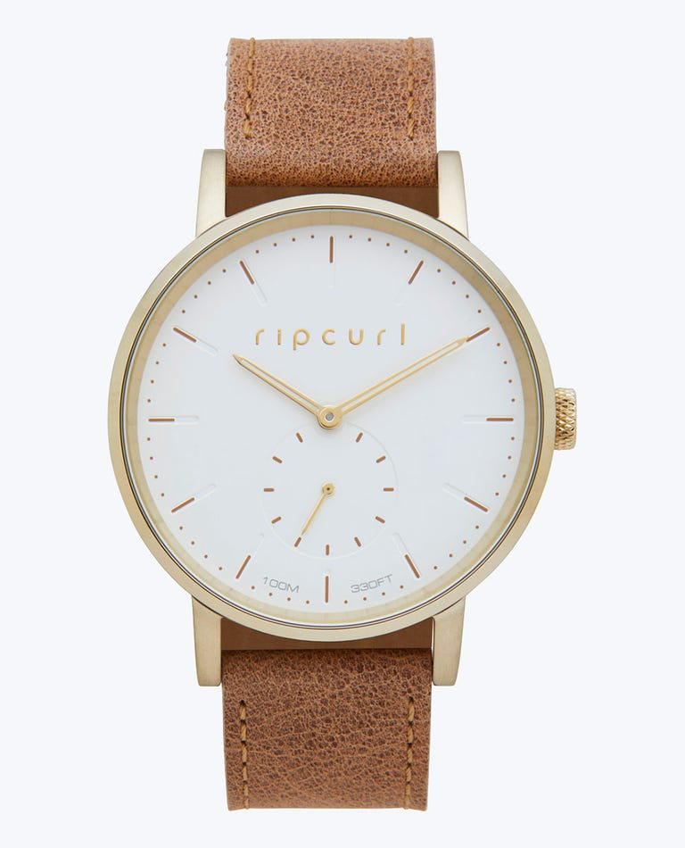 Circa Gold Leather Watch in Gold