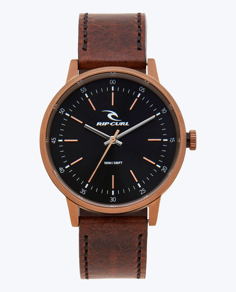Drake Bronze Leather Watch in Bronzed