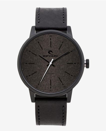 Drake Midnight Leather Watch in Navy