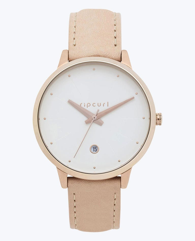 Lola Slim Rose Gold Leather Watch in Nude