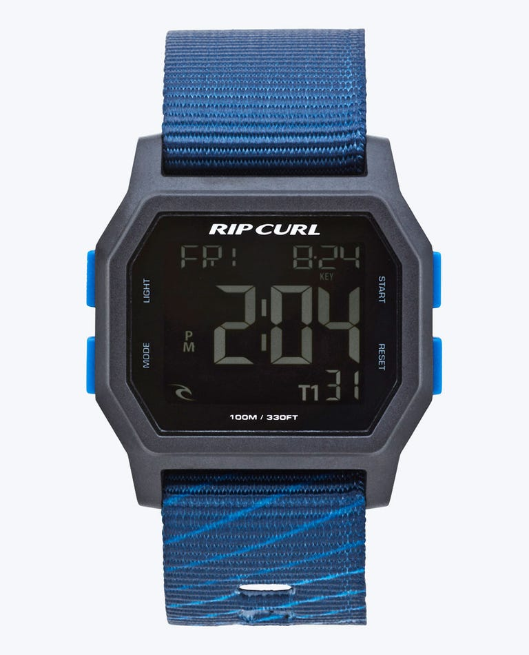 Atom Webbing Digital Watch in Navy
