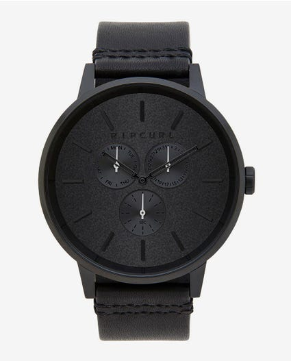 Detroit Multi Eye Midnight Leather Watch in Navy