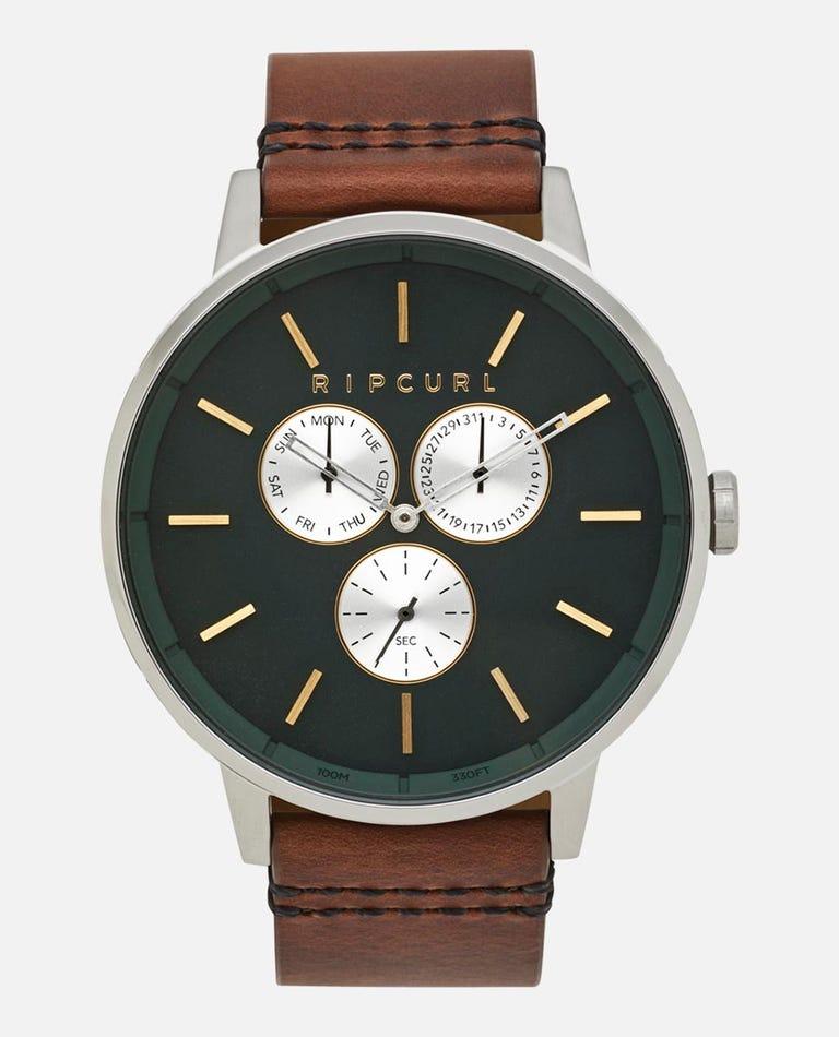 Detroit Multi Leather Watch in Green