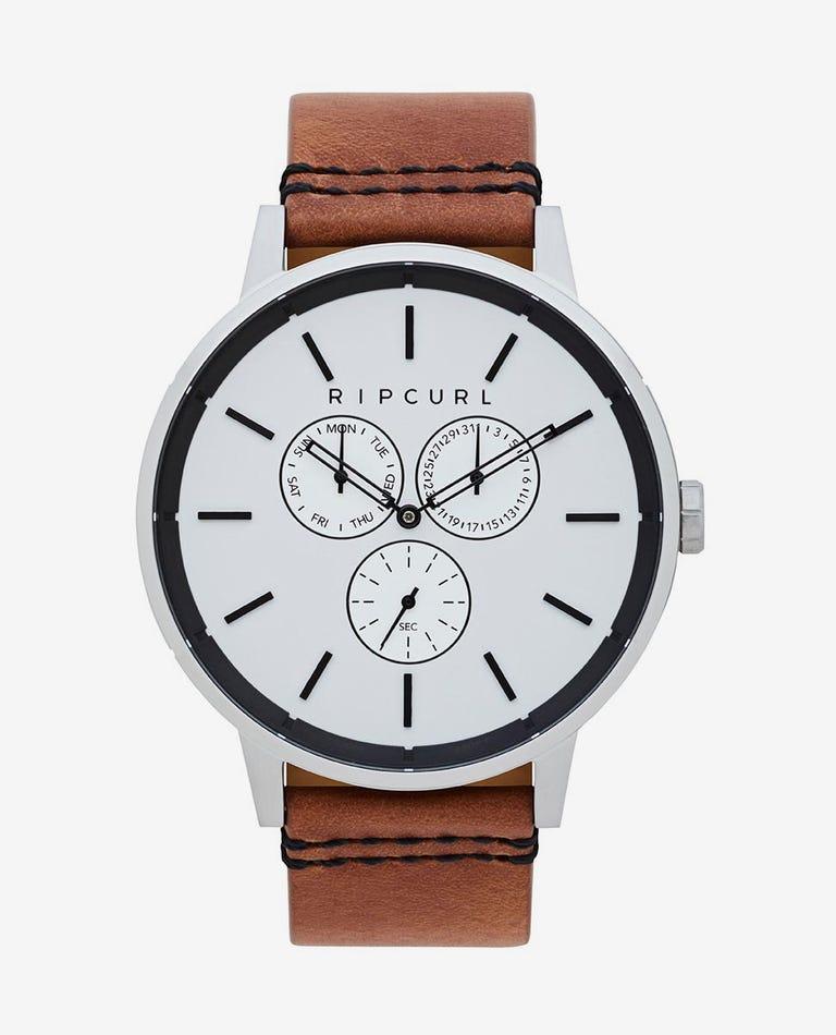 Detroit Multi Leather Watch in Silver