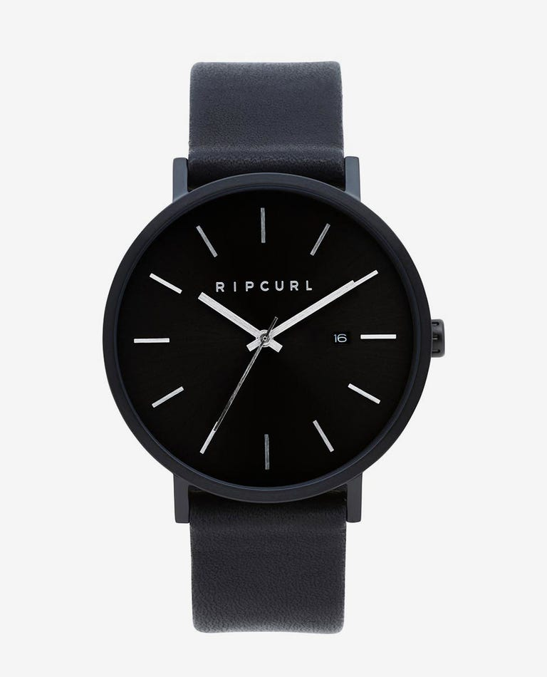 Mode Midnight Leather Watch in Midnight
