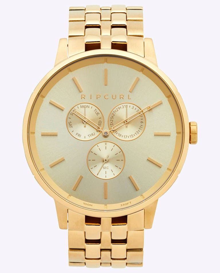 Detroit Multi Gold SSS Watch in Gold
