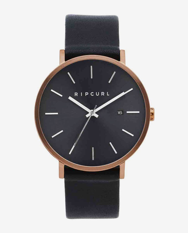 Mode Bronze Leather Watch in Bronzed