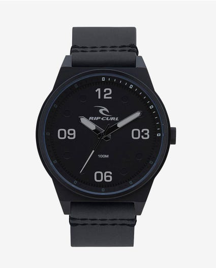 Sheer Midnight Leather Watch in Midnight