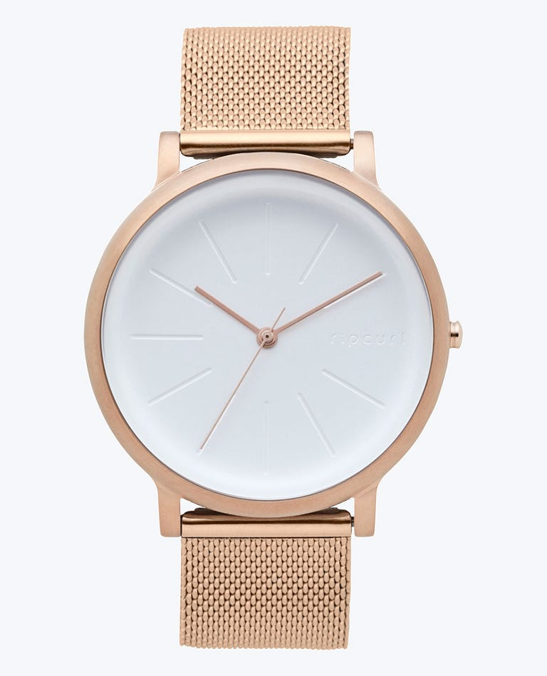 Flow Rose Gold Stainless Steel Strap Watch in Rose Gold