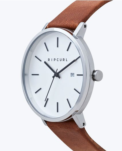 Mode Leather Watch in Silver