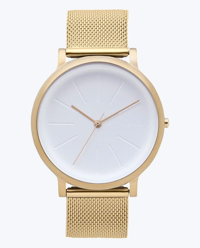 Flow Gold Stainless Steel Strap Watch in Gold