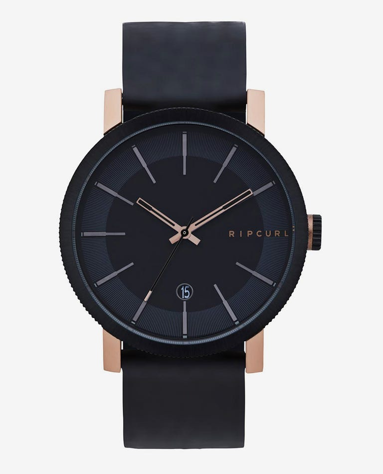 Beacon Leather Watch in Bronzed