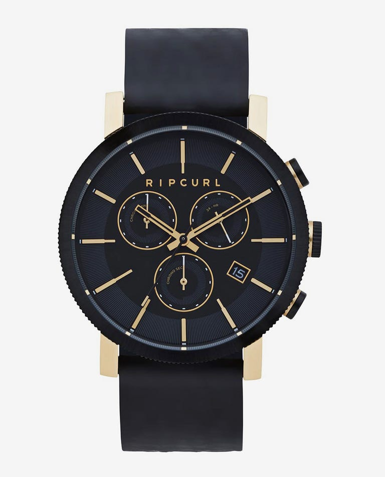 Beacon Chrono Gold Leather Watch in Gold