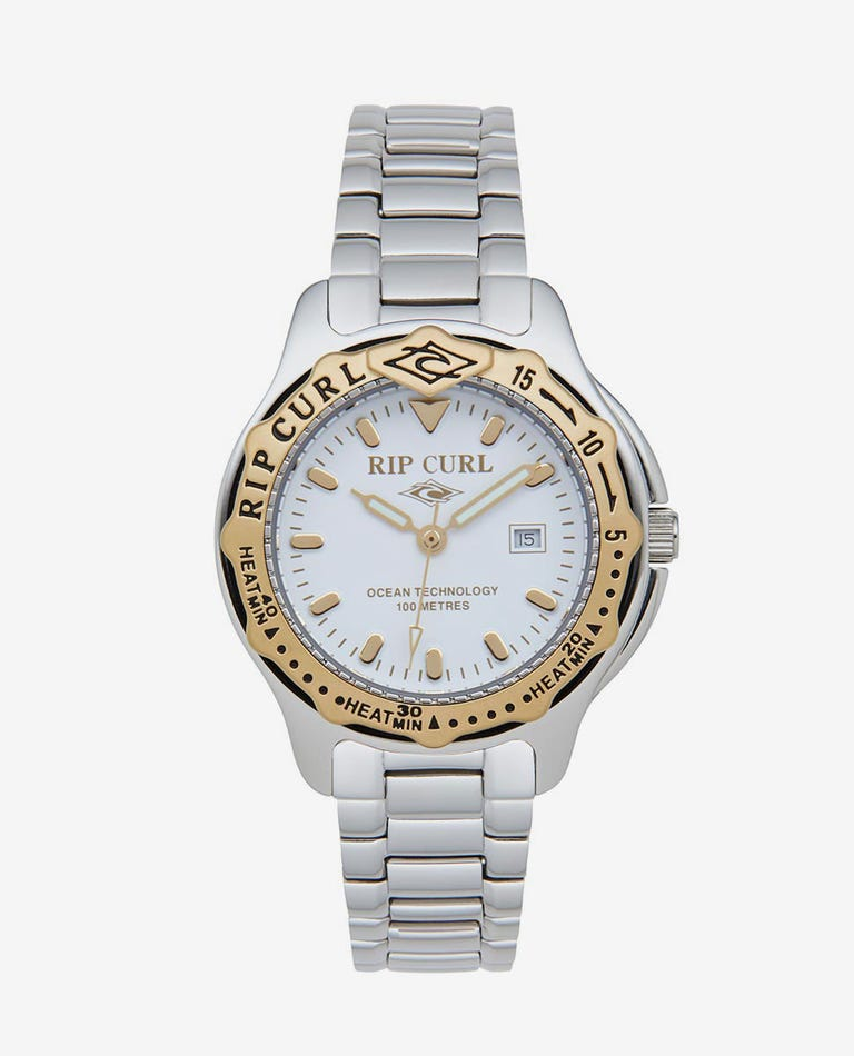 Heritage Collection - Mid Heat Bezel SSS Watch in White