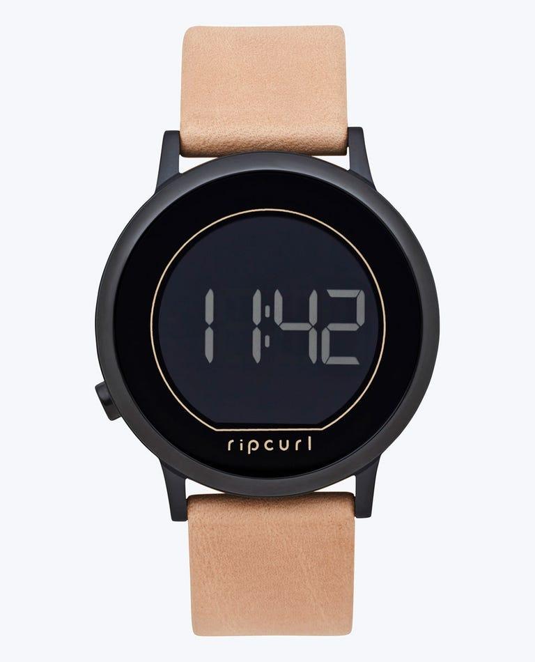 Daybreak Digital Midnight Leather Watch in Midnight