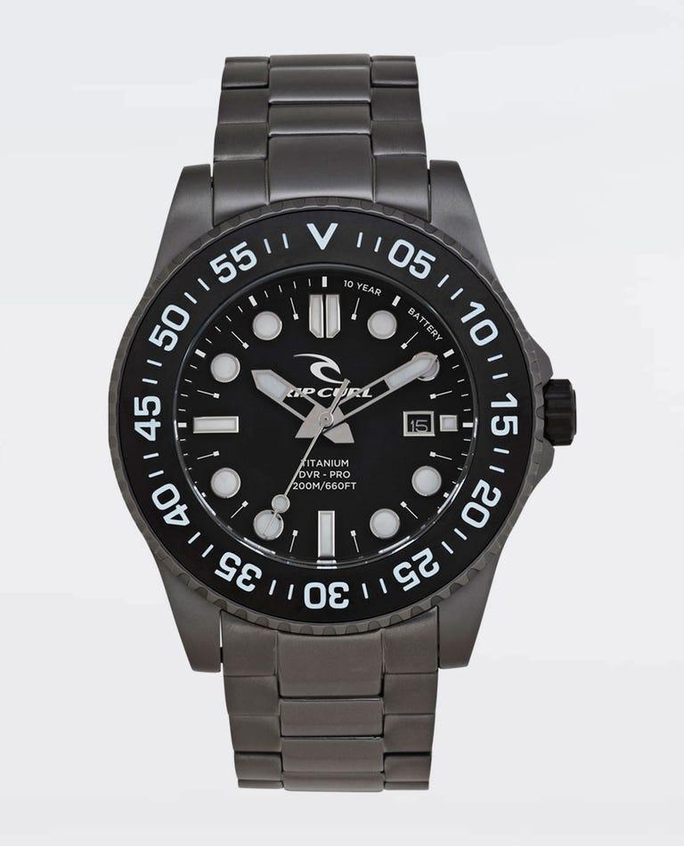 Mick Fanning Titanium DVR Pro Watch in Black