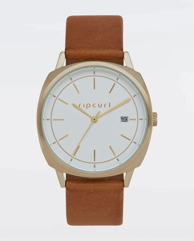 Mali Gold Leather Watch in Gold