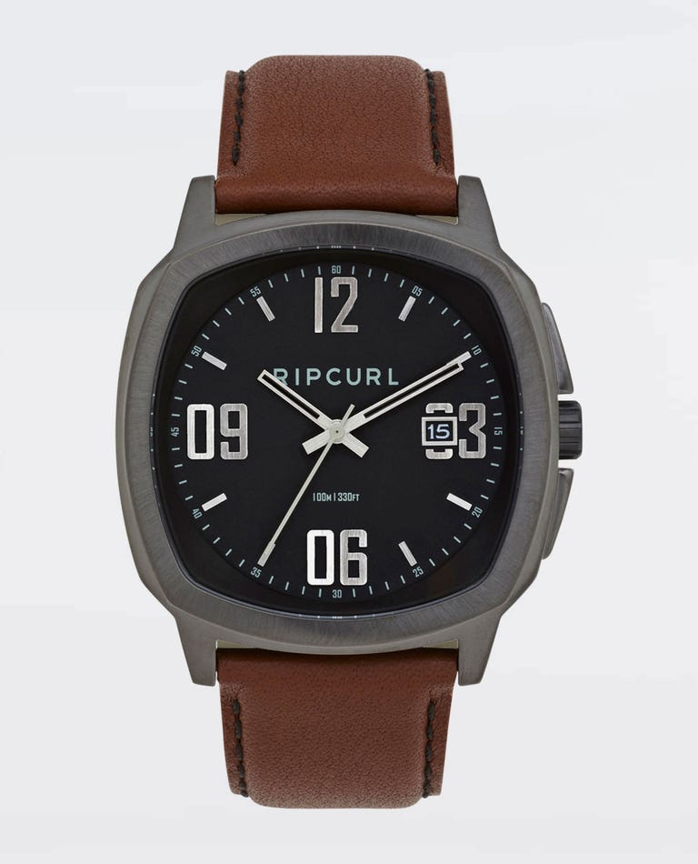 Nomad Gunmetal Leather Watch in Gunmetal
