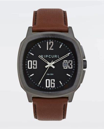 Nomad Gunmetal Leather Watch in Gunmetal