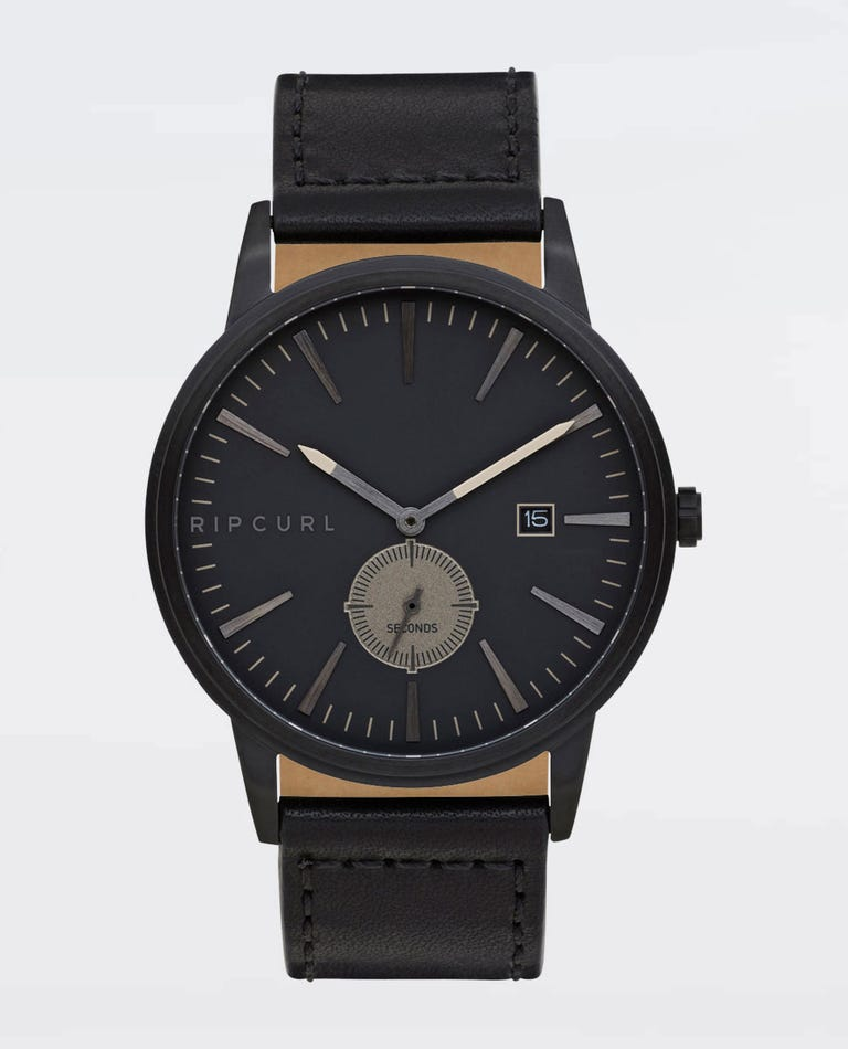 Vision Midnight Leather Watch in Midnight