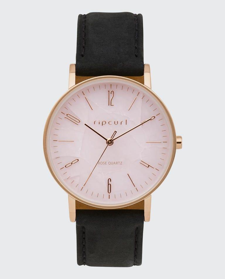 Latch Rose Quartz Leather Watch in Pink