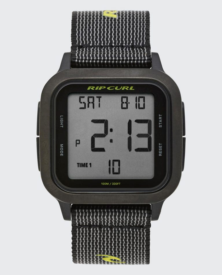 Next Digital Watch in Black/Lime