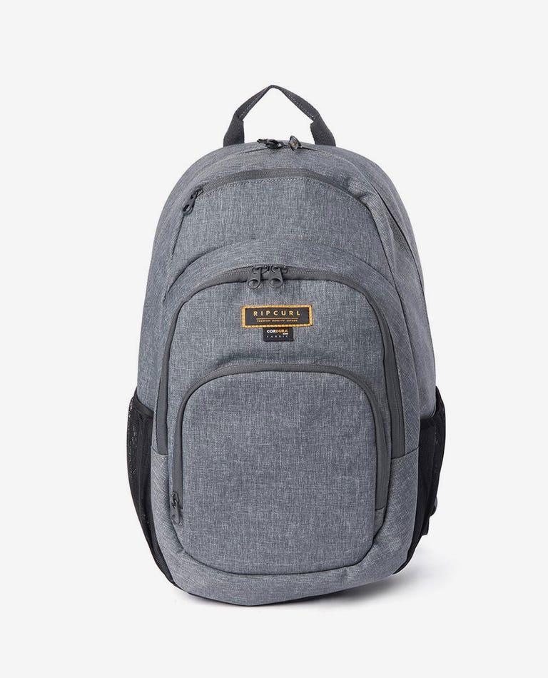 Overtime Stacka Navy Backpack in Grey