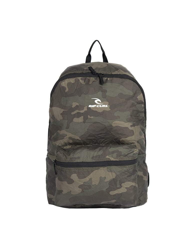 Packable Backpack in Military Green