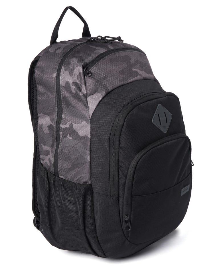 Overtime Camo Backpack in Black