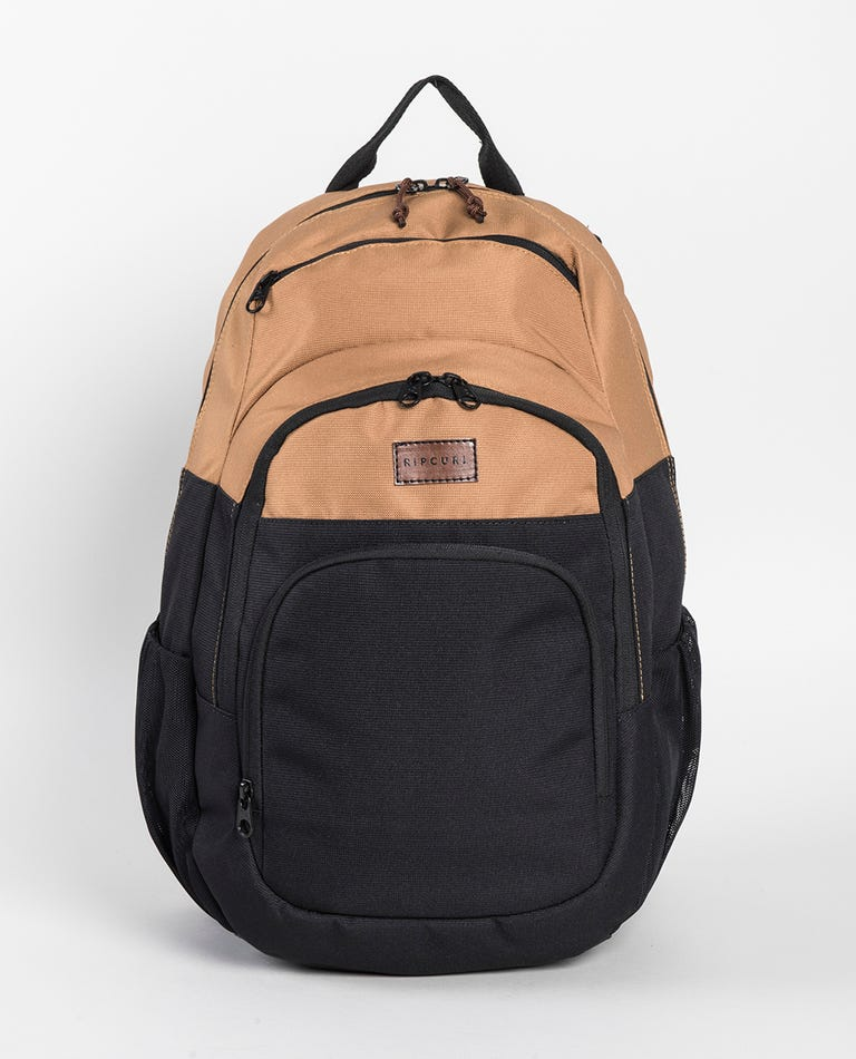 Overtime Combined Backpack in Black/Tan