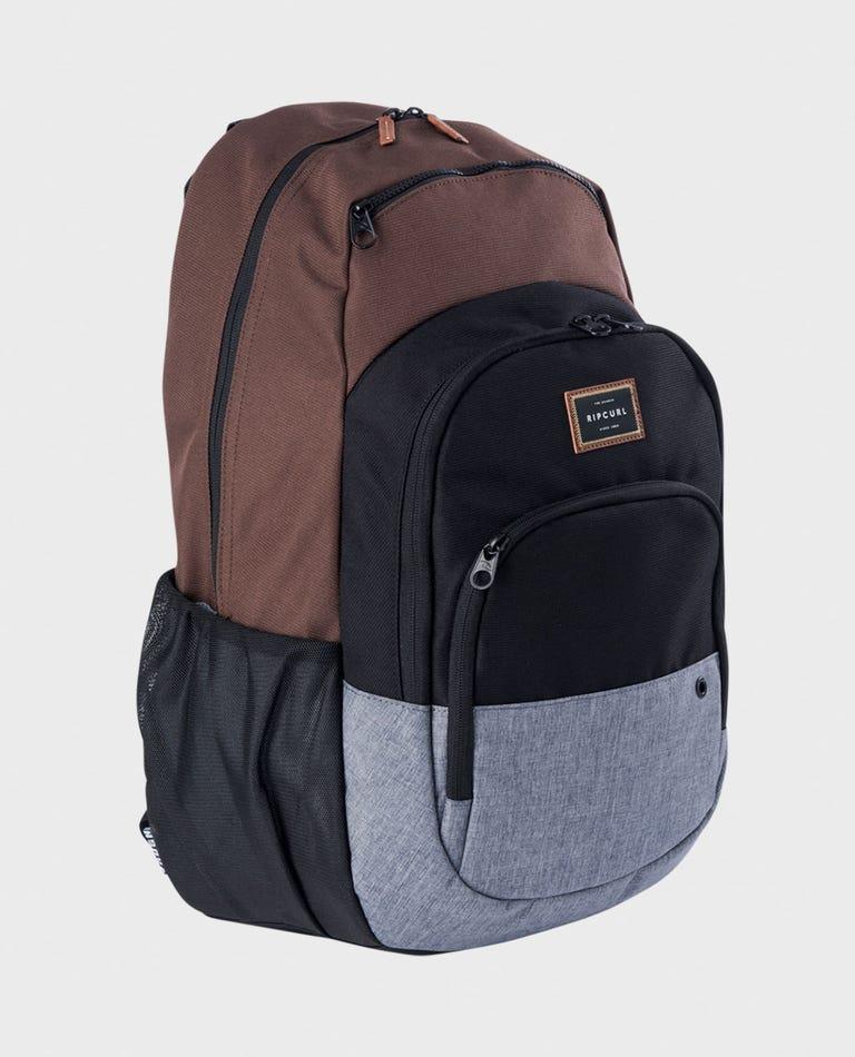 Overtime Stacka Backpack in Brown/Blue