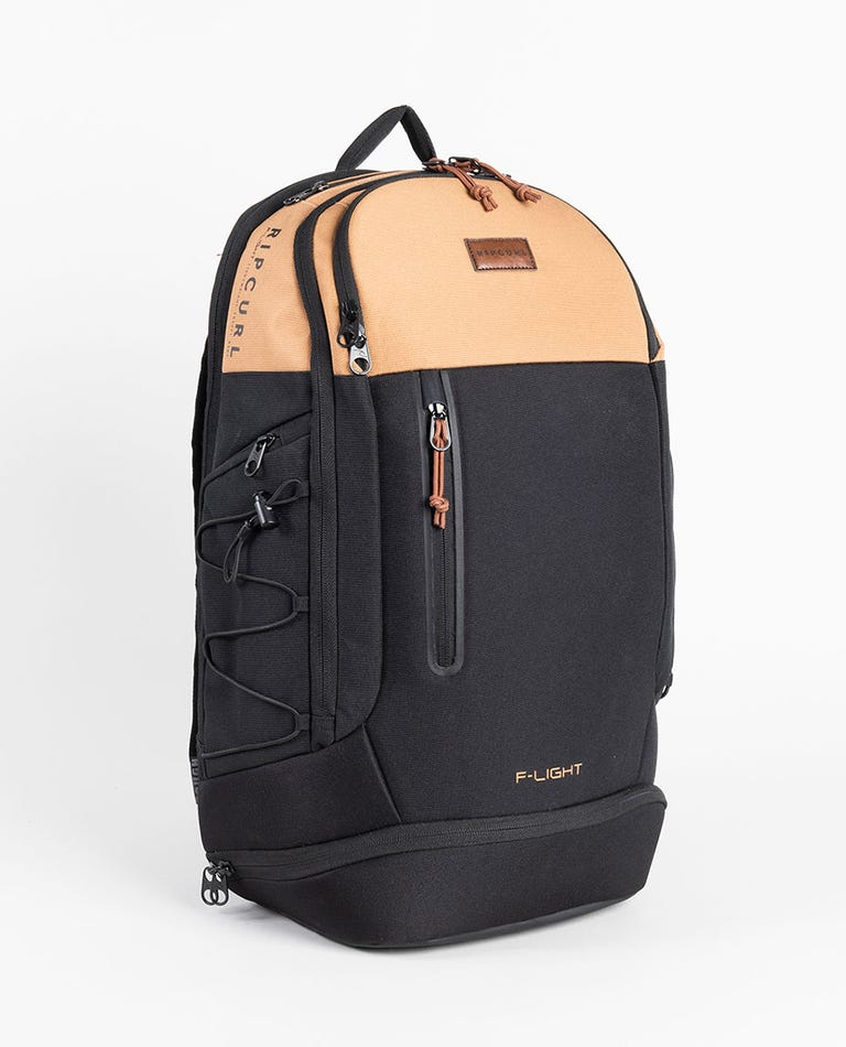 F-Light Searcher Combine Backpack in Black/Tan