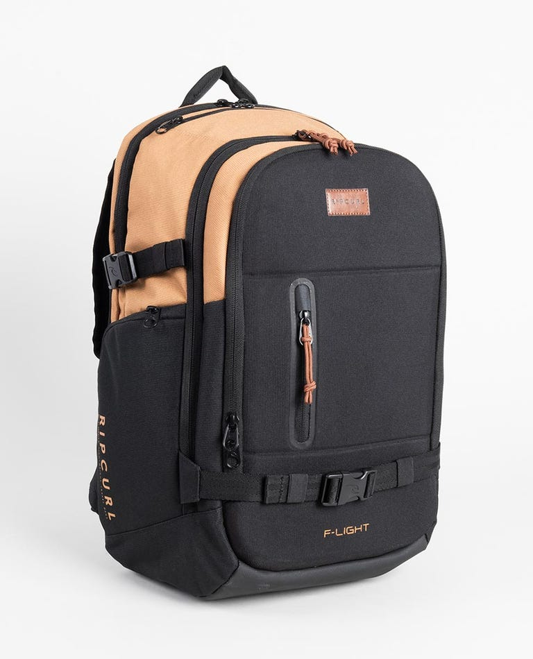 F-Light Posse Combine Backpack in Black/Tan