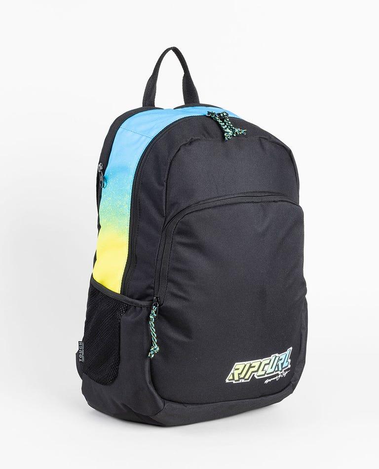 Ozone Slant Backpack in Black/Lime