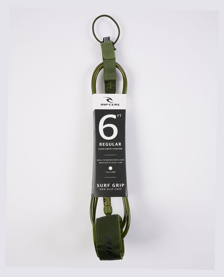 60 Surf Grip Leash  in Olive