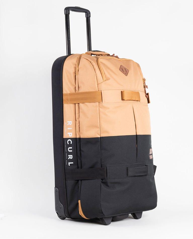 F-Light Global Combine Travel Bag in Black/Tan