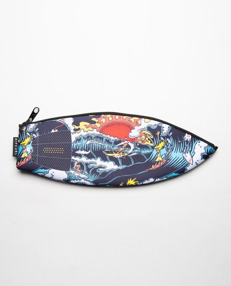 Surfboard Pencil Case in Blue