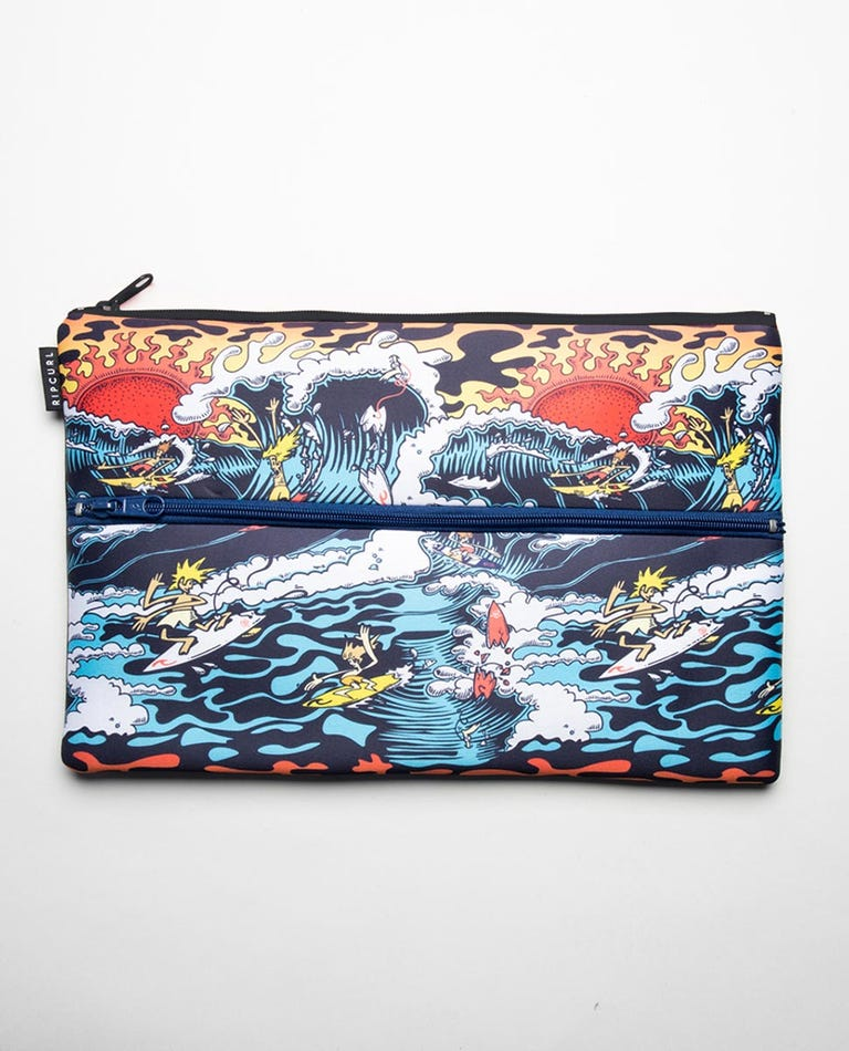 X Large Pencil Case in Blue