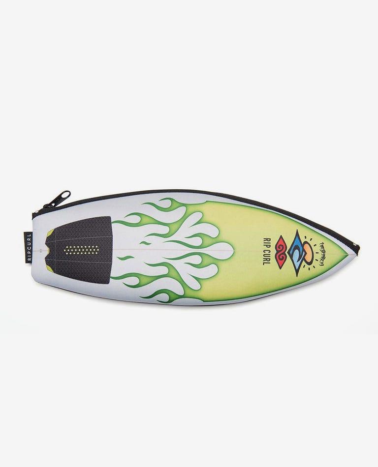 Surfboard Pencil Case in Green